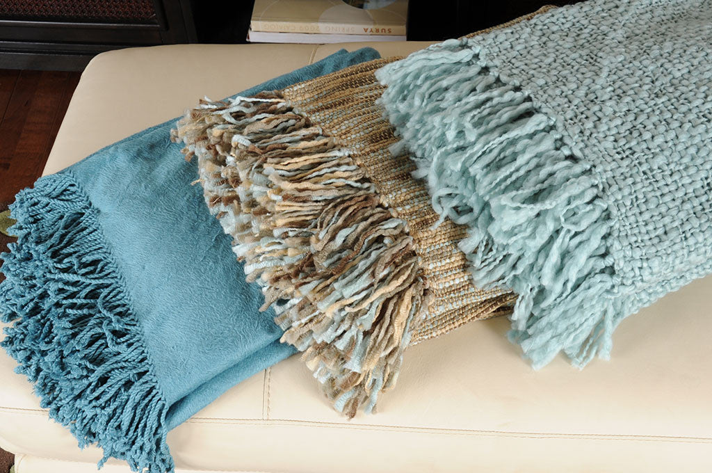 Tobias Solid Teal Throw