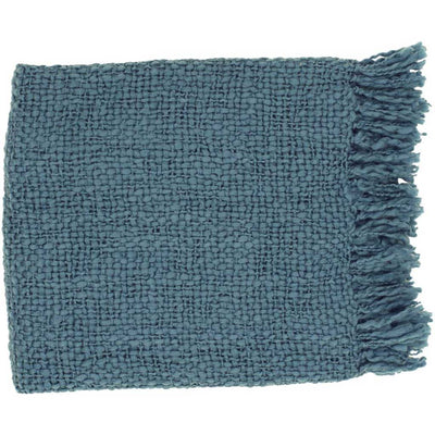 Tobias Solid Blue Throw