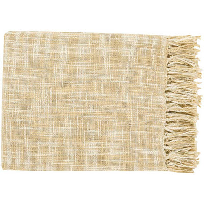 Tori Solid Ivory/Butter Throw
