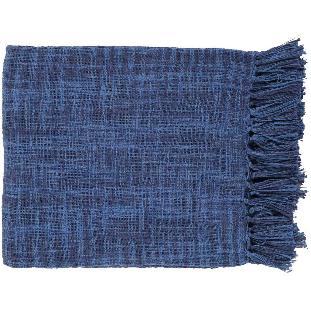 Tori Solid Cobalt/Navy Throw