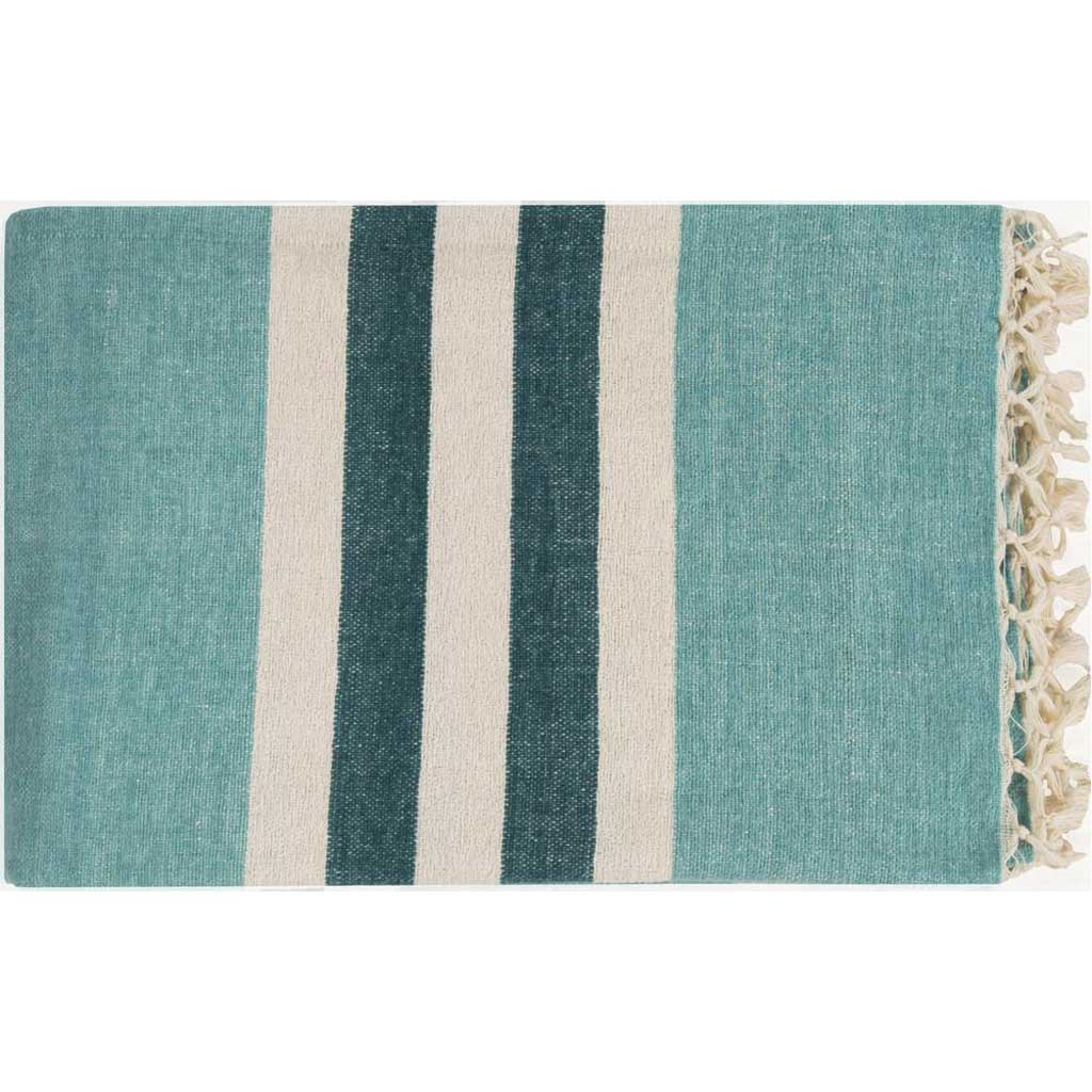 Troy Stripes Blue Throw