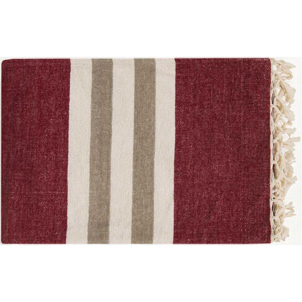 Troy Stripes Red Throw