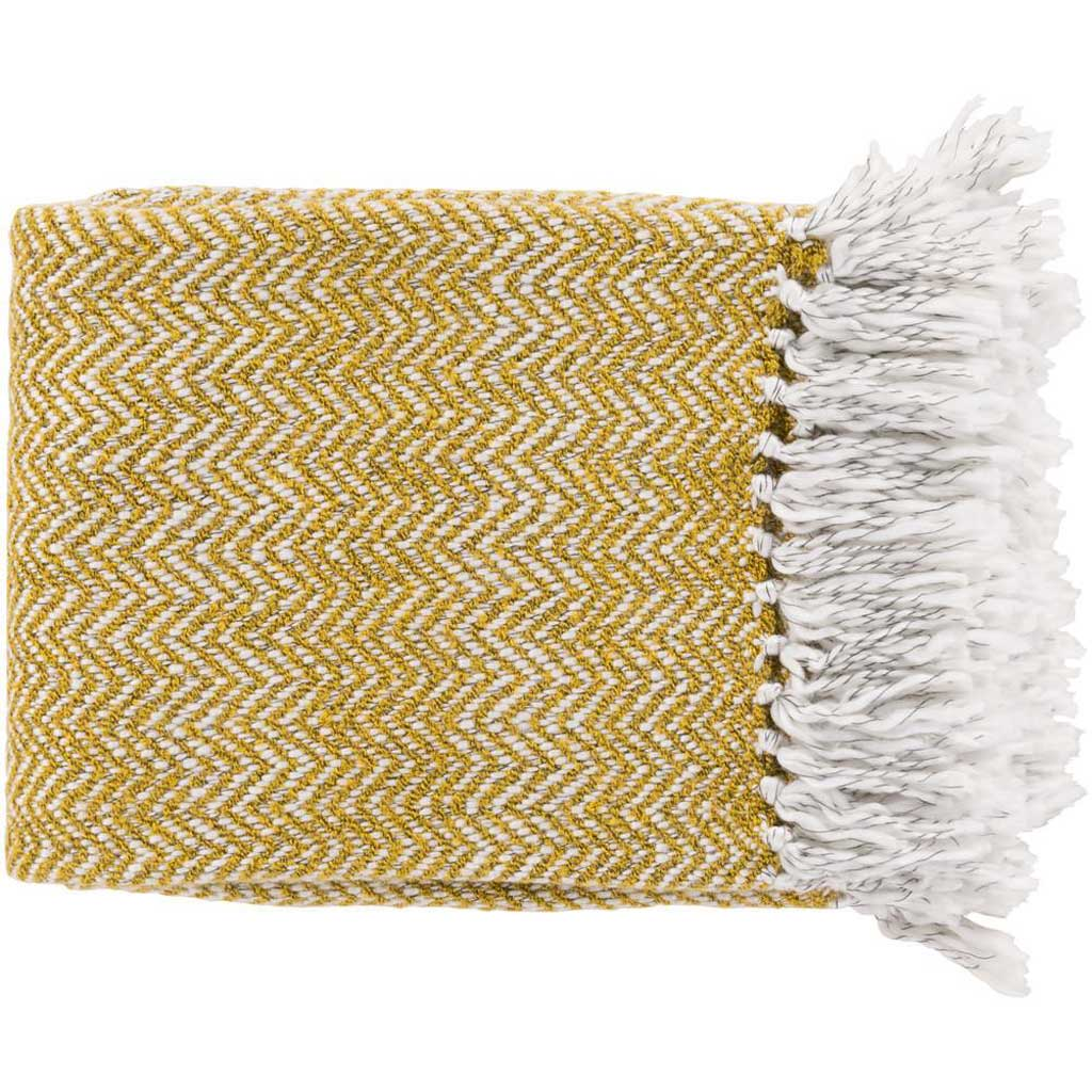 Trina Textural Yellow Throw