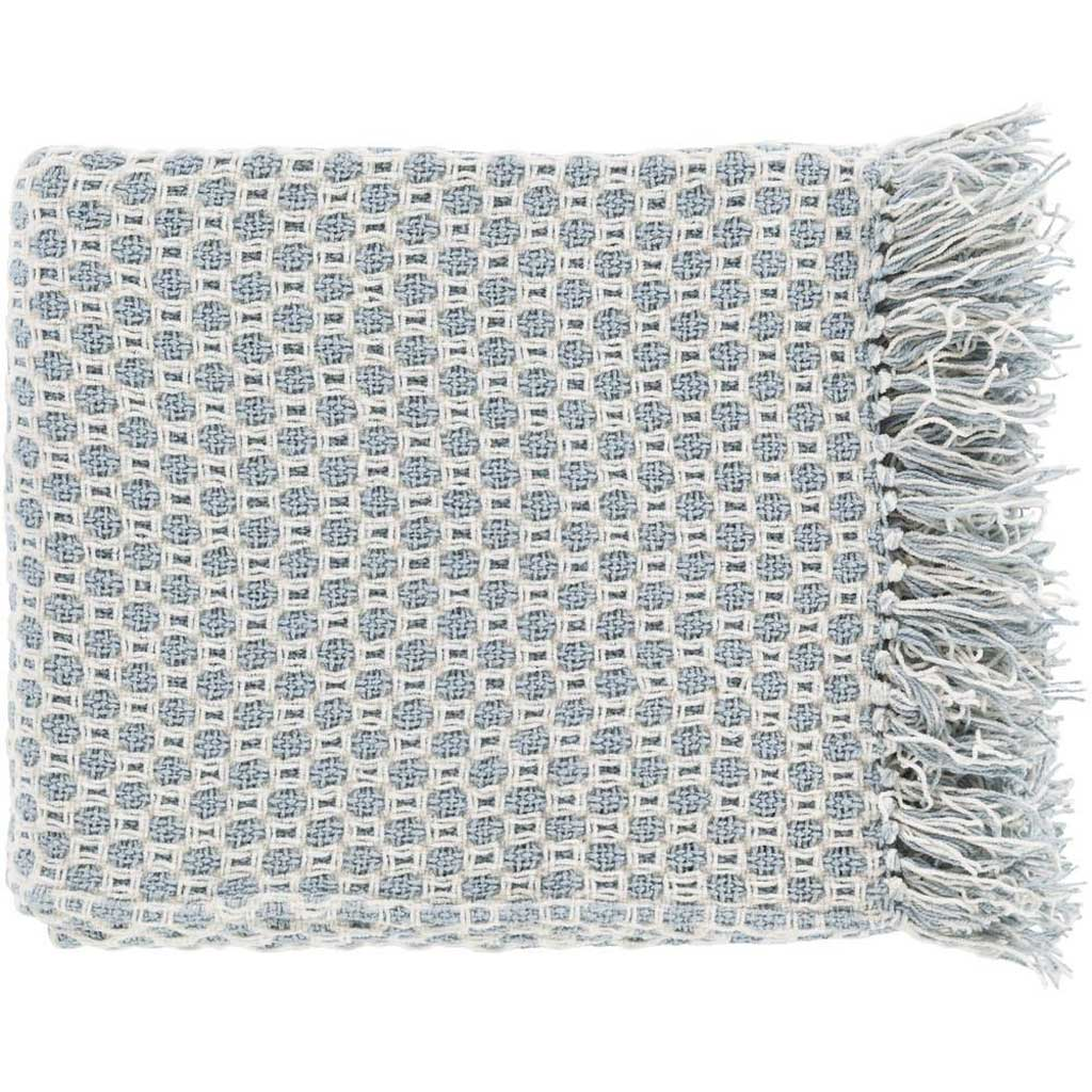 Trestle Geometric Blue Throw