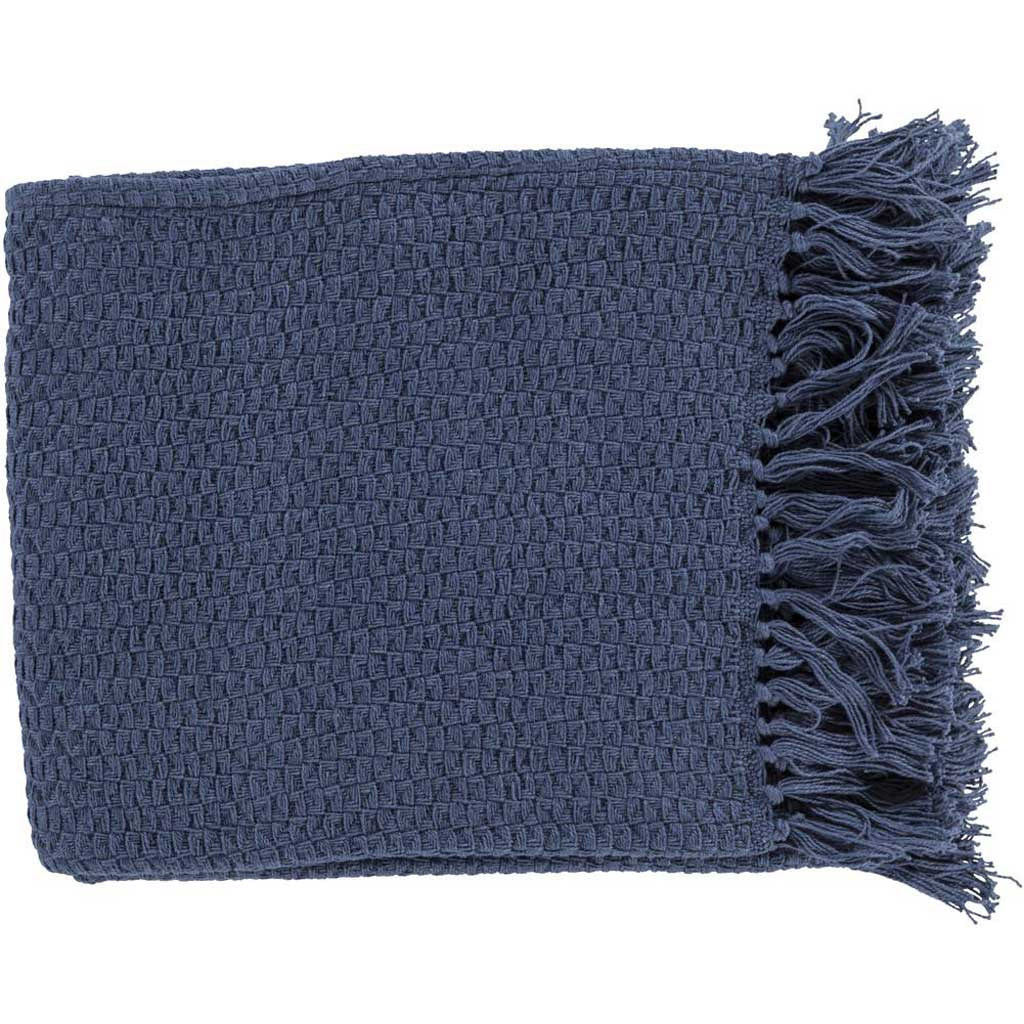 Tressa Solid Navy Throw
