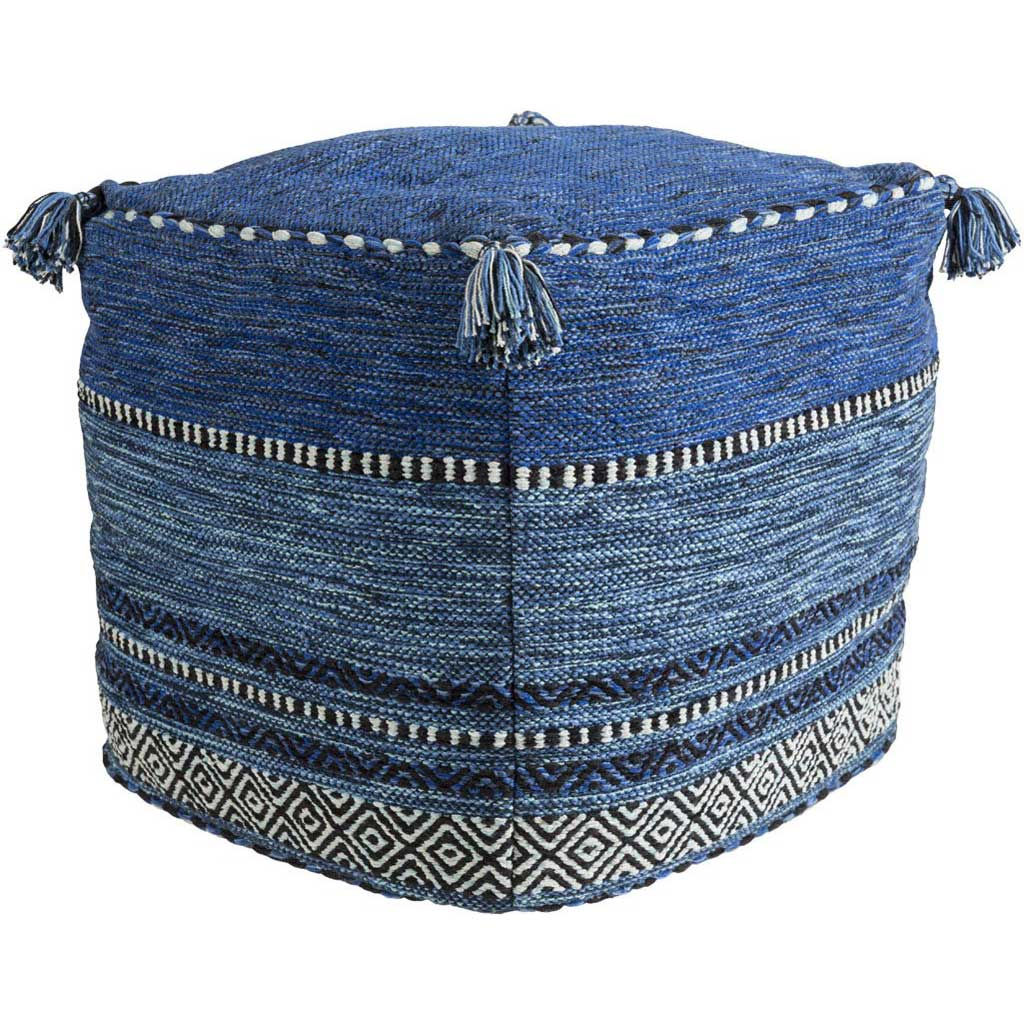 Trenza Cube Dark Blue/Navy/Pale Blue Pouf