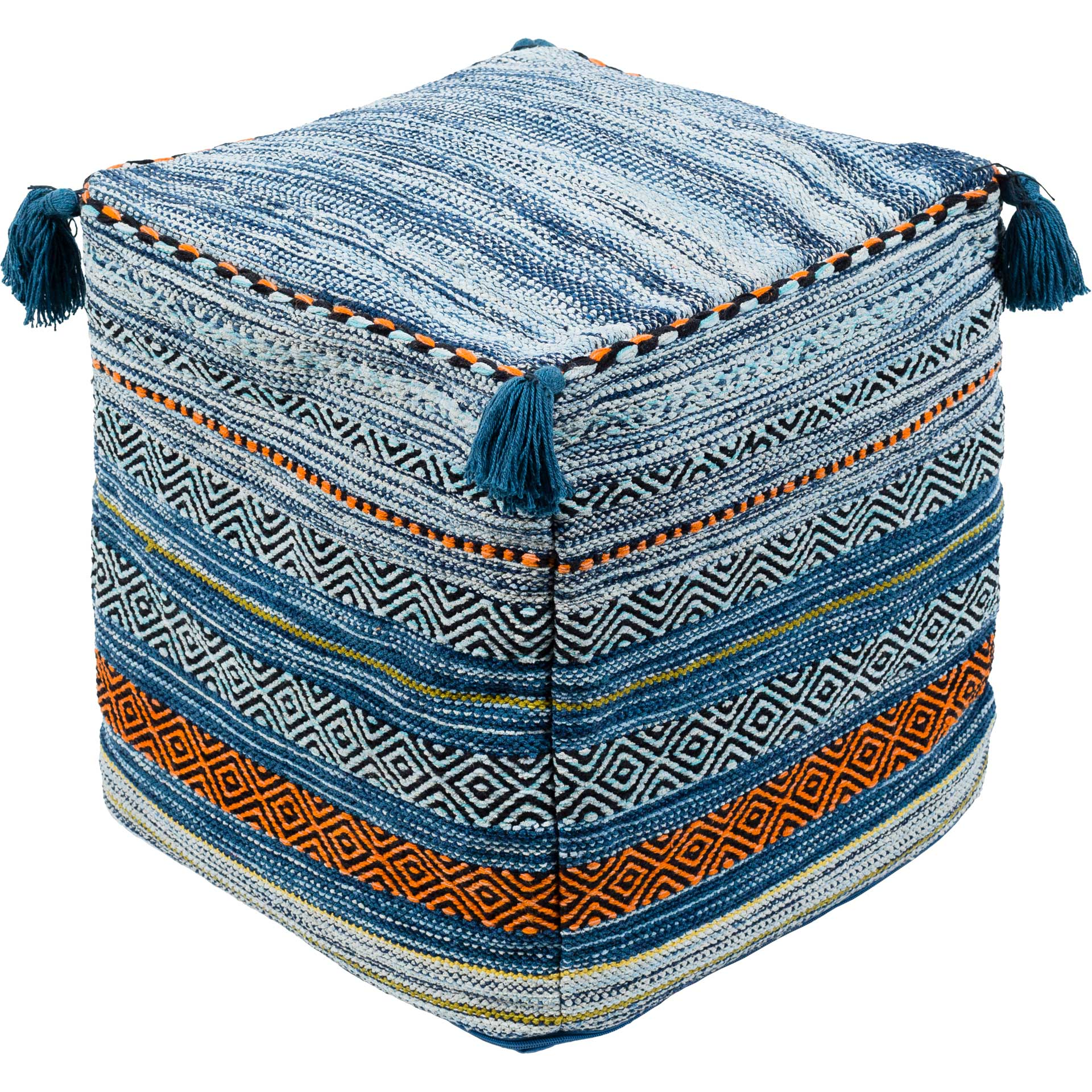 Trent Pouf Bright Blue/Dark Blue/Aqua