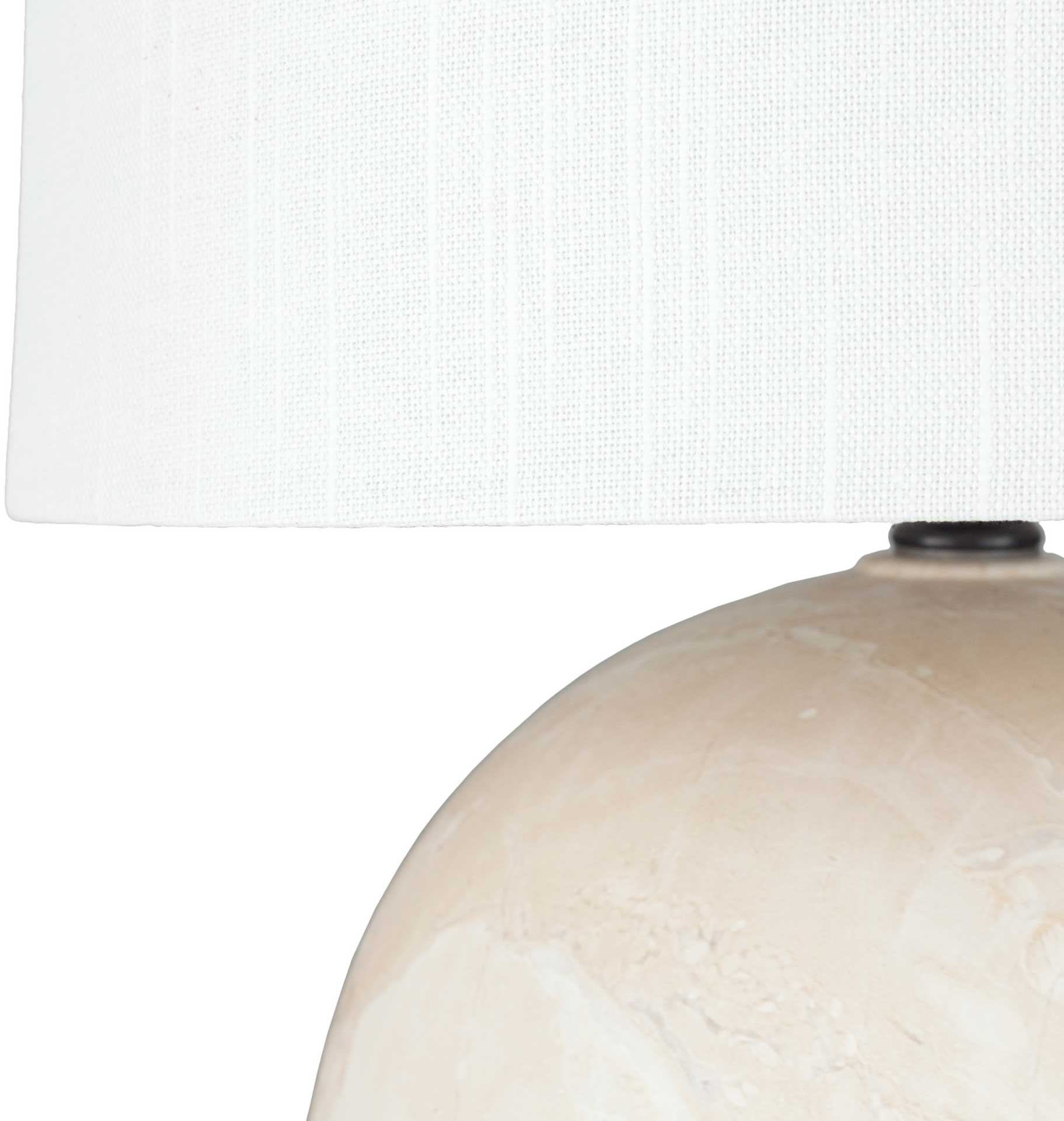 Vicenzia Table Lamp Cream/White/Natural