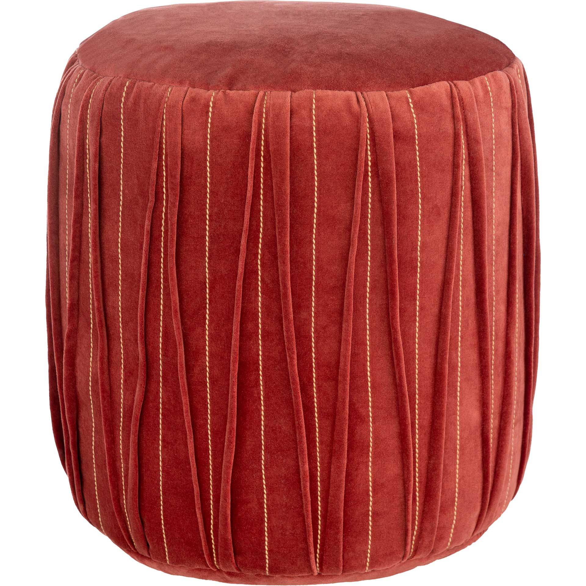 Veronica Pouf Dark Red