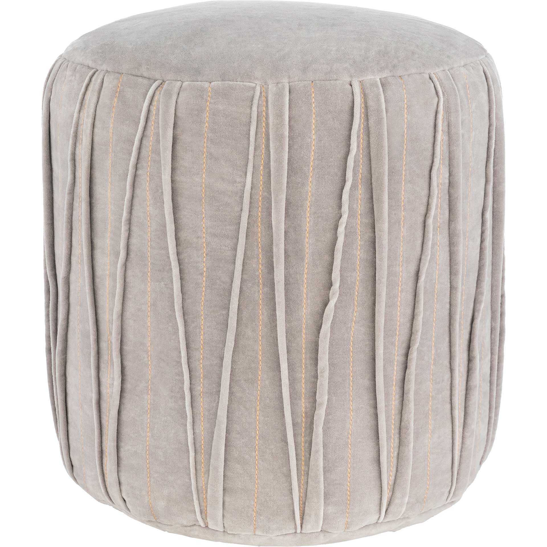 Veronica Pouf Medium Gray