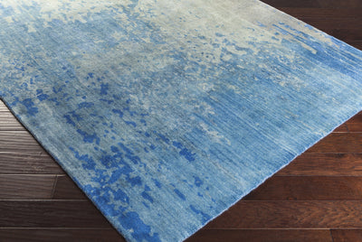 Watercolor Cobalt/Light Gray Area Rug