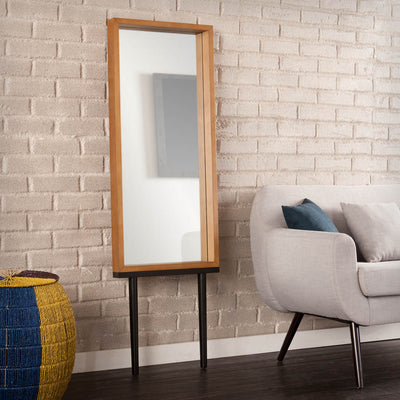 Sawa Leaning Mirror Weathered Gray