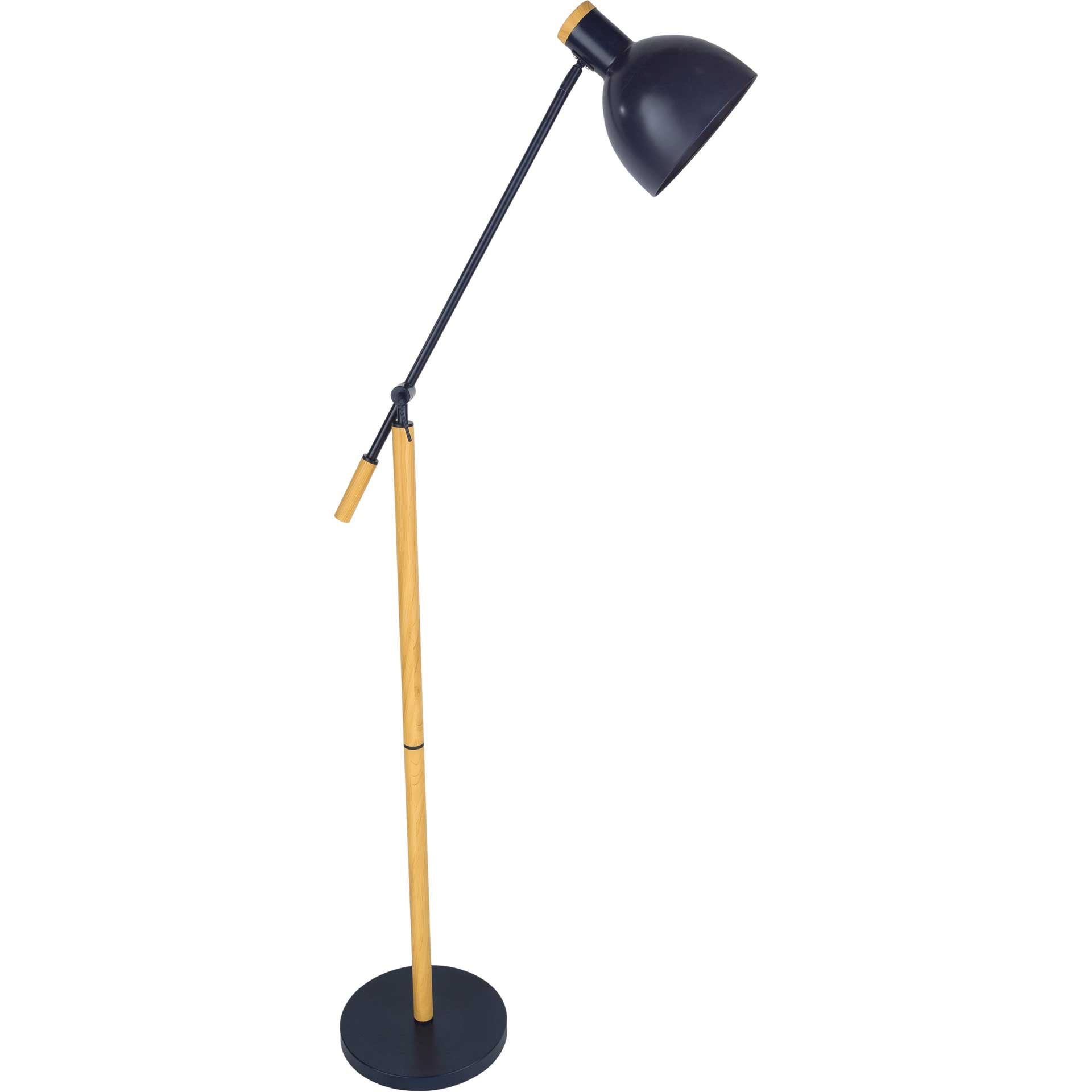 Yahia Floor Lamp Navy/Black