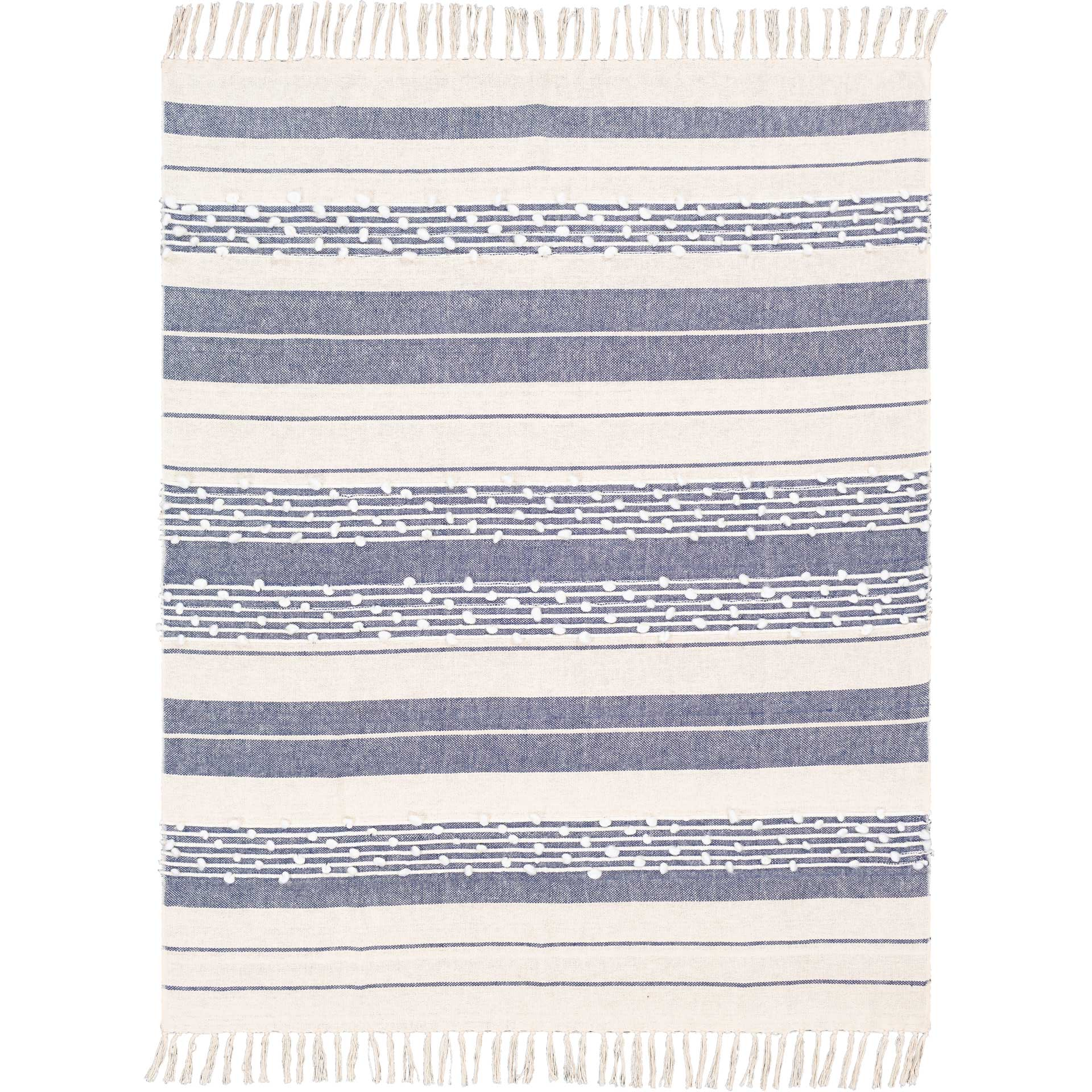 Yemariam Throw Navy/White/Cream