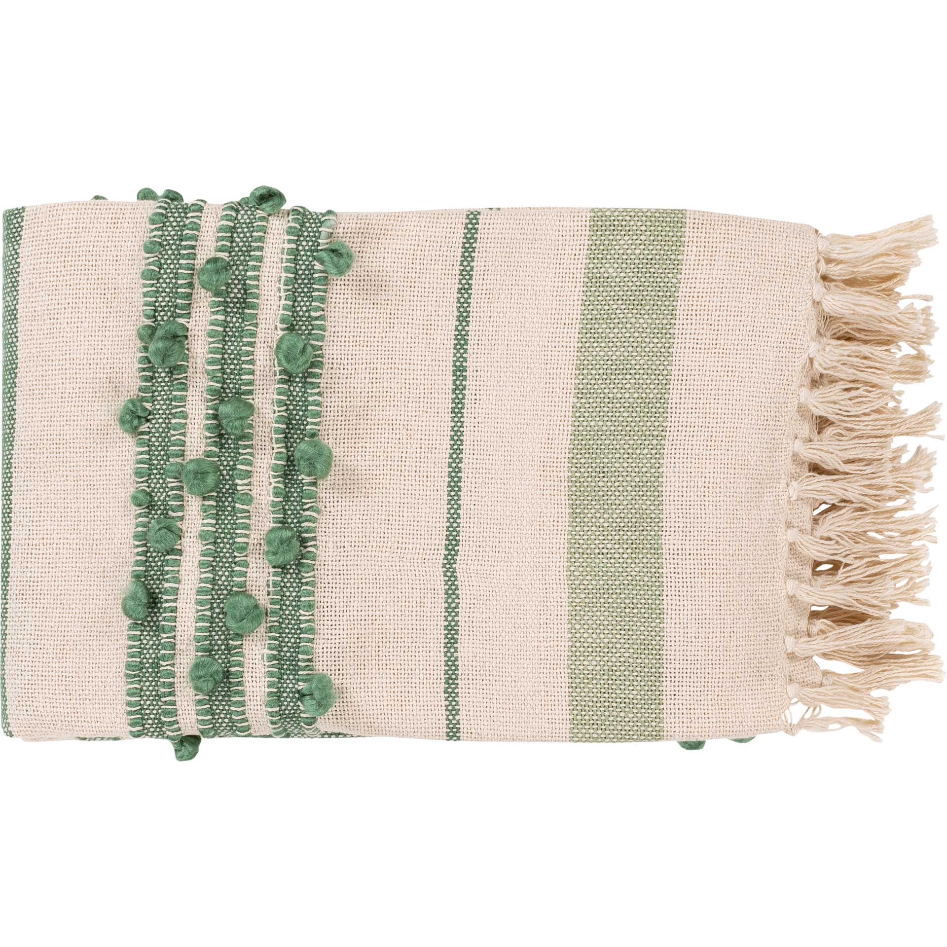Yemariam Throw Mint/Emerald/Cream