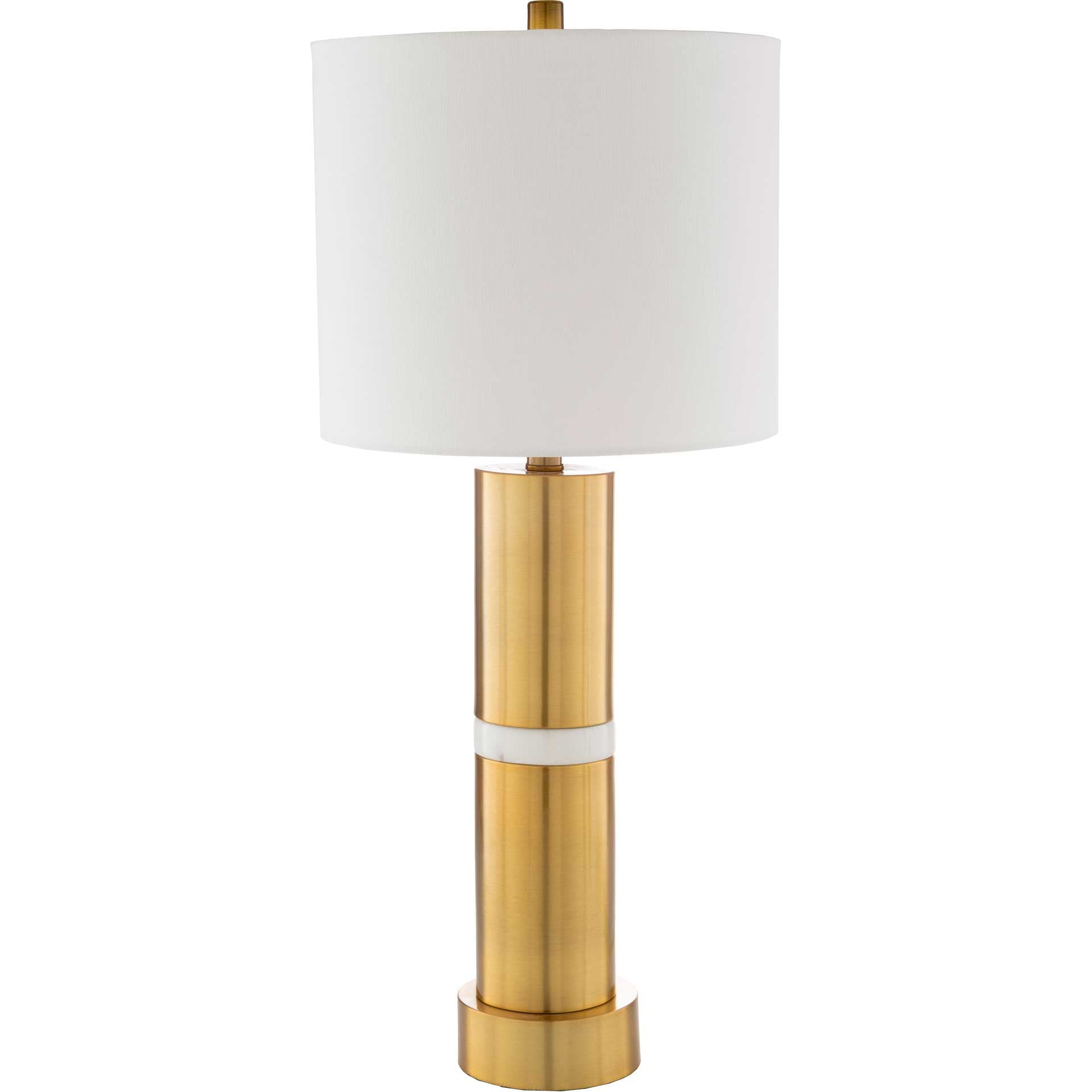 Yaseen Table Lamp White/Brass/Off-White