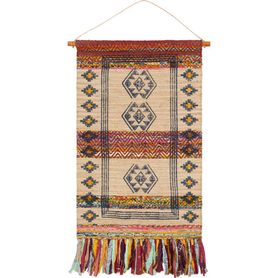 Zeke Wall Hanging Wheat/Navy/Rust