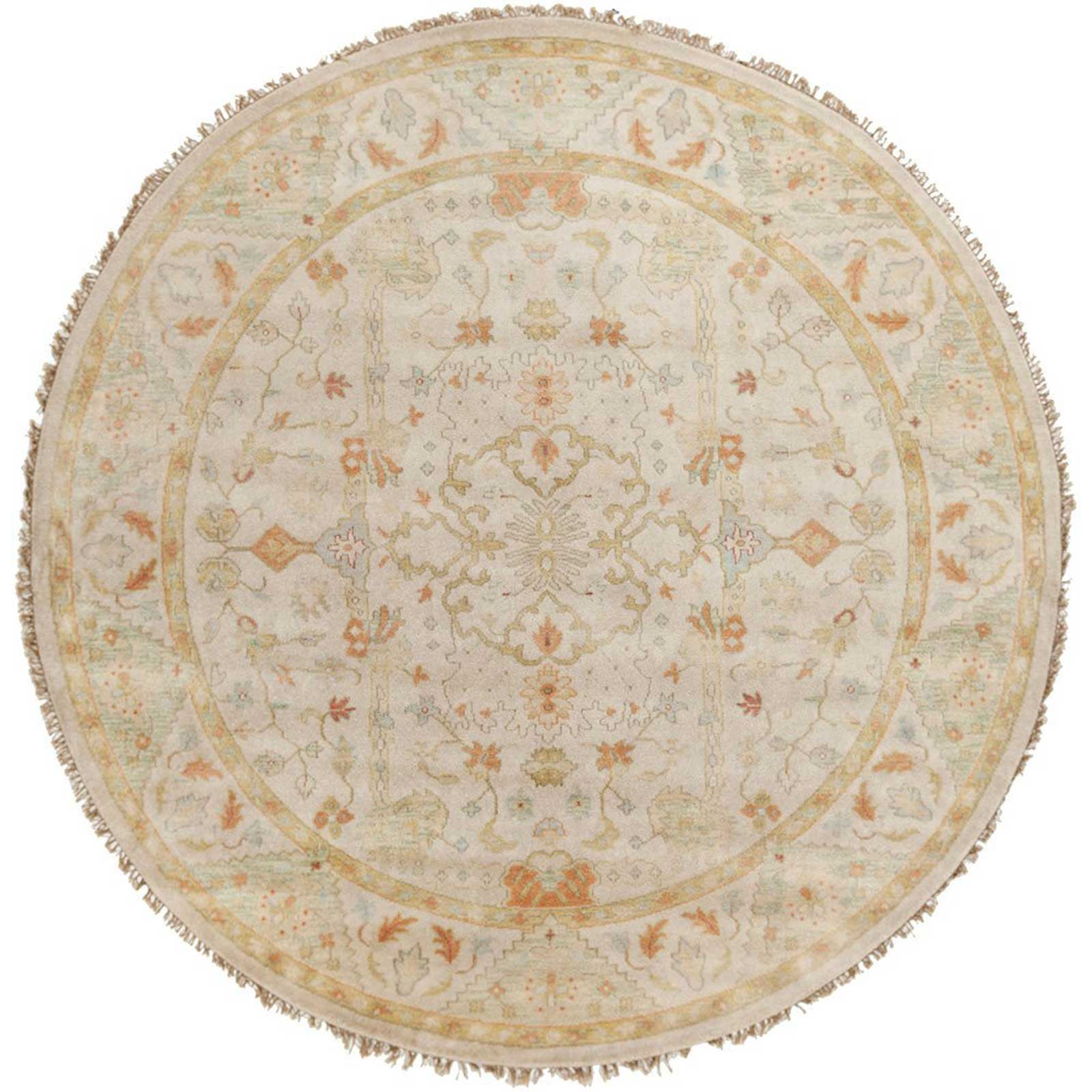 Zeus Light Gray/Moss Round Rug