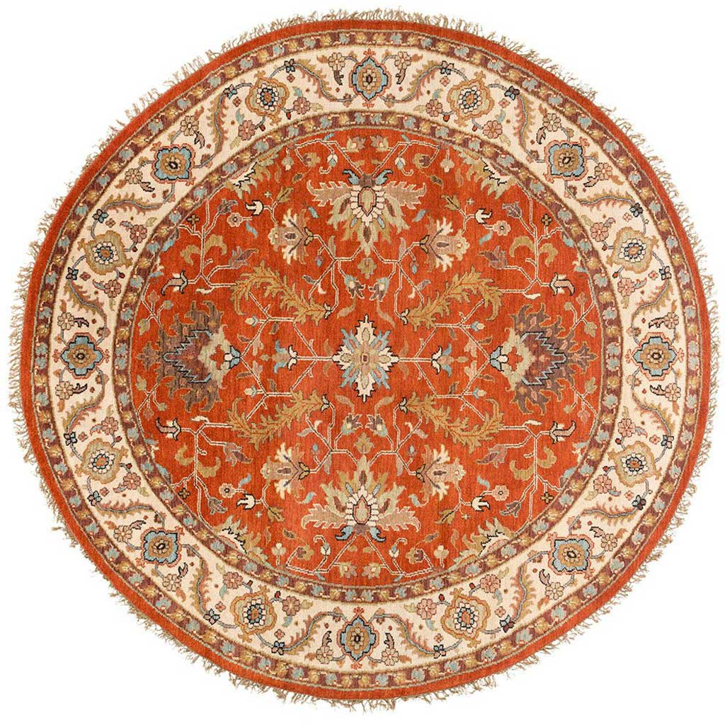 Zeus Butter/Light Gray Round Rug