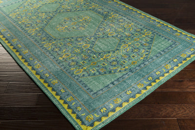 Zahra Teal/Lime/Gold Area Rug