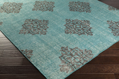 Zahra Teal/Black Area Rug