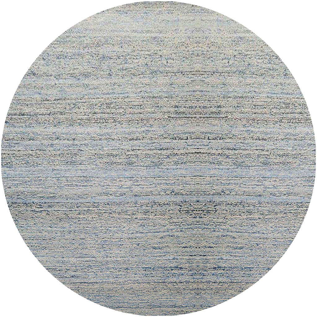 Zola Light Blue/Cobalt Round Rug