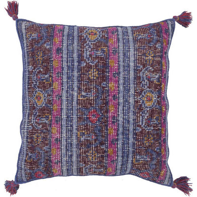 Vintage Heirloom Cobalt/Magenta Pillow