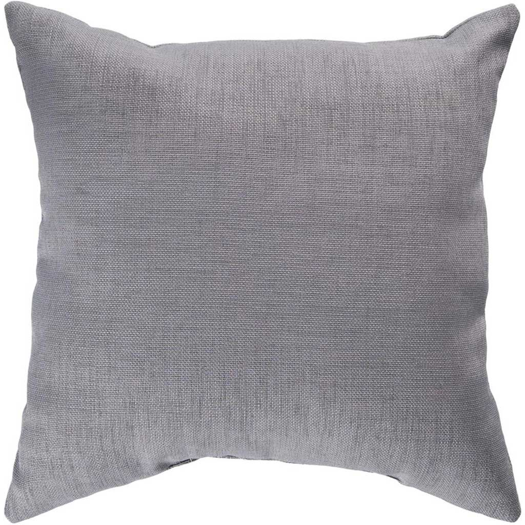 Stunning Solid Cover Gray Pillow