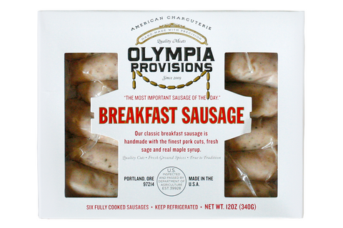 Our classic breakfast sausage is handmade with the finest pork cuts, fresh sage and real maple syrup