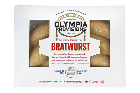 Our handcrafted, German inspired pork bratwurst is made with fresh ground nutmeg and white pepper, delivering old world flavor
