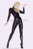 Catsuit, with feet, zip back