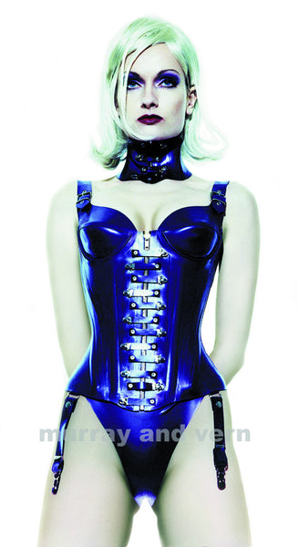 Corset with cups, Lock Front