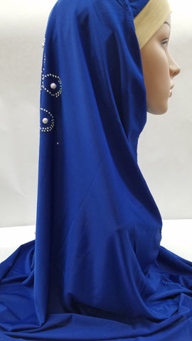 Royal Blue Hijab