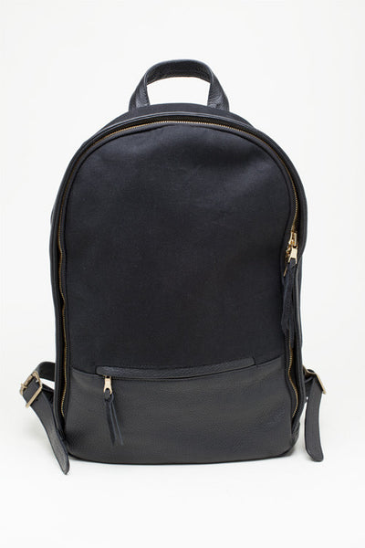 The Classic Backpack - Noir Canvas