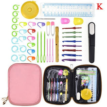 Load image into Gallery viewer, 20 styles Set Crochet Hook Set DIY Weave Knitting Needles Set Knit Gauge Scissors Stitch Holder Hook Sewing Tool Accessories Set
