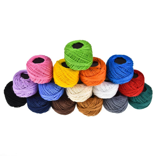 16 Colors Ball Cotton Embroidery Threads for Cross stitch Crochet Needlepoint Hand Embroidery For Women Sewing Accessories Tools