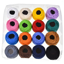 Load image into Gallery viewer, 16 Colors Ball Cotton Embroidery Threads for Cross stitch Crochet Needlepoint Hand Embroidery For Women Sewing Accessories Tools