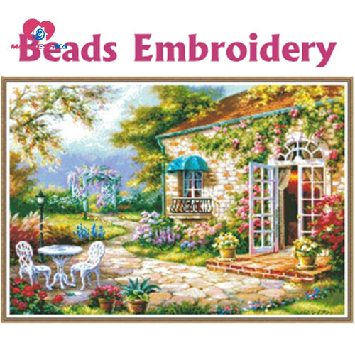 64cm*45cm Beads embroidery fields and gardens full beadwork crochet hook hobby