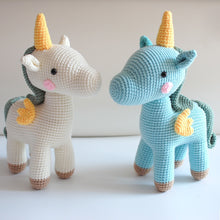 Load image into Gallery viewer, Crochet Unicorns for boy or girl