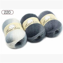 Load image into Gallery viewer, 1pc 100g Section dyed wool rainbow Yarn hand knitting Crochet Thick Yarn DIY Craft Warm Scarf Sweater Cushion 360m