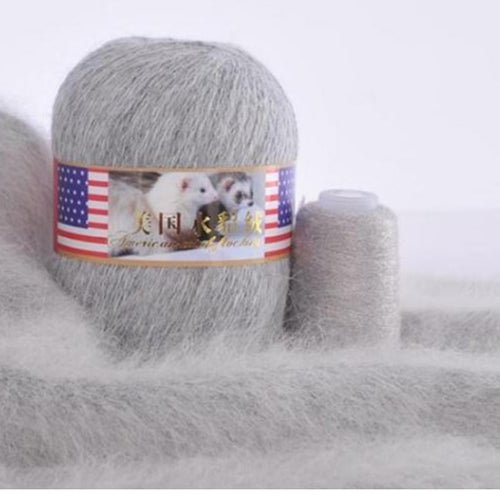 70g/Pcs High Quality Cashmere Long Soft Mink Yarn Thread Plush merino Velvet Wool for Hand Knitting Crochet Yarns Warm VS012