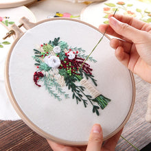 Load image into Gallery viewer, Europe DIY Ribbon Flowers Embroidery Set with Frame for Beginner Needlework Kits Cross Stitch Series Arts Crafts Sewing Decor
