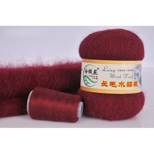 31 Colors 50g soft mink velvet wool hand-knitted luxury long-wool cashmere Crochet knitted yarn High-quality for autumn winter