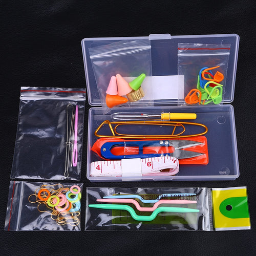 Knitting knit craft Accessories Supply Crochet kit Needle Clip Hook Stitch CrossStitch tool Sewing accessories Tool with Case^25
