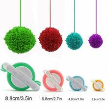 Load image into Gallery viewer, 1 Set Essential Pom-Pom Pom Maker Fluff Ball Weaver Needle Craft Knitting DIY Tool Set - Random Color