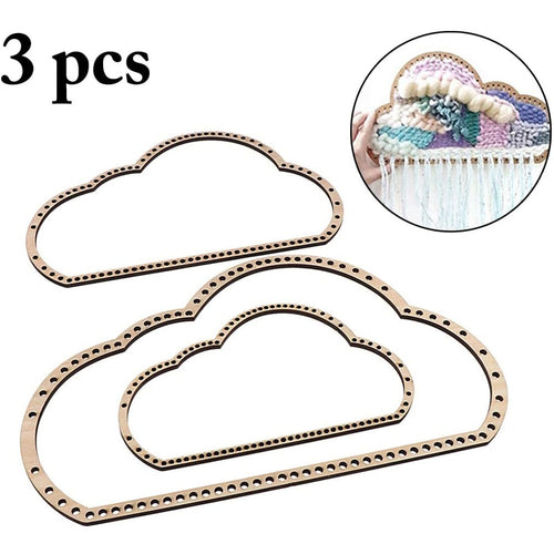 3Pcs/Set Wooden Cloud Shape Knitting Loom DIY