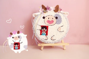 Cute Animal DIY Punch Needle Embroidery Kit