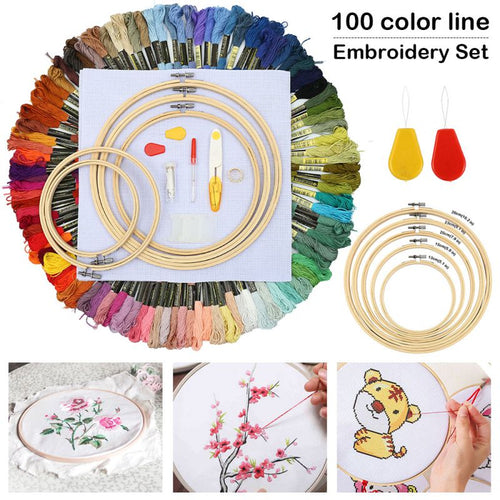 Hoop Set Kit Thread Punch Stitching