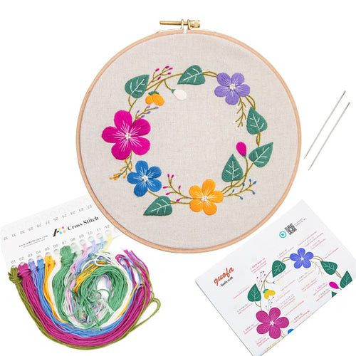CHERISH 20cm Embroidery kits for beginners