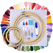 Load image into Gallery viewer, Embroidery Apparel Hoop Embroidery Kit Colored Threads For Adults Beginners 1